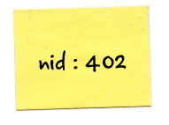 The node id was written down on a post-it.